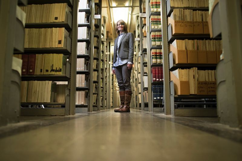PMG PHOTO: JAIME VALDEZ - Jennifer Patterson, Oregons new state librarian, says she is still finding her way around the shelves of historic material in the library.
