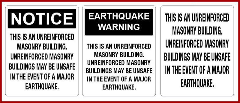 CITY OF PORTLAND - Examples of the city required warning signs.
