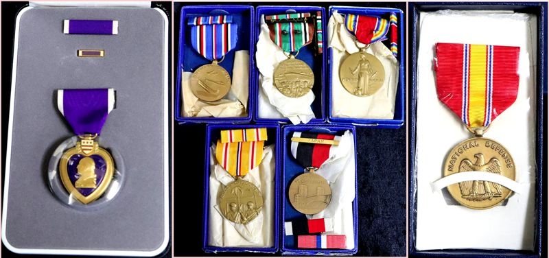 COURTESY PHOTOS: DEPARTMENT OF STATE LANDS - Medals held by the Department of State Lands include a Purple Heart, a National Defense Medal and Victory World War II medals.