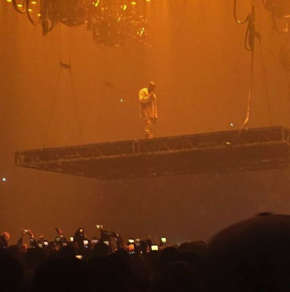 COURTESY: PAUL LOVING  - Loving on Instagram: Kanye West live.