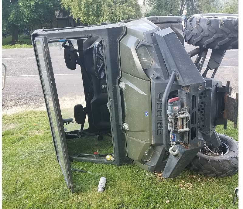 PRINEVILLE POLICE DEPARTMENT - Harold Wayne Kee was ejected from this ATV after it was struck by a Ford F-150 pickup on O'Neil Highway Thursday evening.