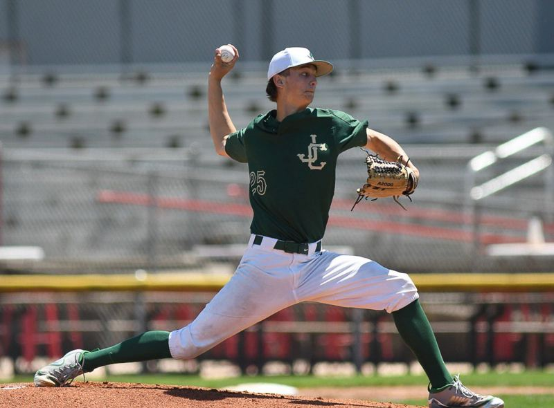 COURTESY PHOTO: BRIAN MURPHY - Jesuit junior starting pitcher Mick Abel threw eight high quality innings of one-run, two-hit ball against Central.