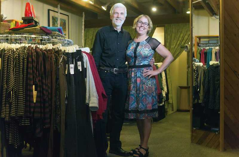 PMG PHOTO - Mike Roach and Kim Osgood in October 2014. As the head buyer for Paloma Clothing, Osgood makes sure 'we turn our merchandise constantly. No item is in the store for more than three months.'