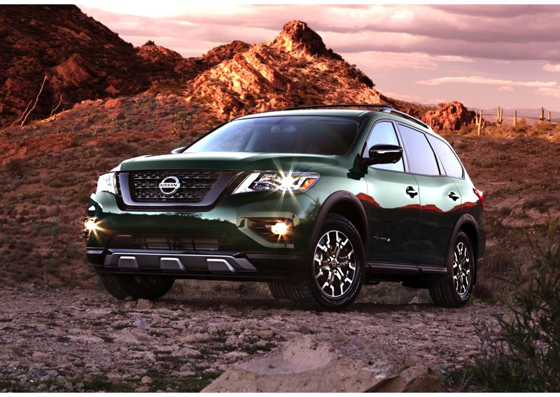 COURTESY NISSAN USA - The 2019 Nissan Pathfinder Rock Creek Edition includes unique wheels and tires, along with special badging and other trim for just $995.