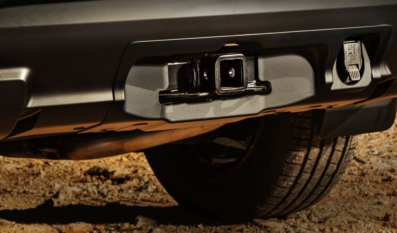 COURTESY NISSAN USA - The 2019 Nissan Pathfinder Rock Creek Edition includes a trailer hitch and harness.