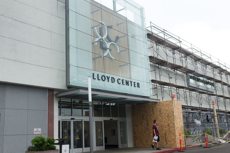 PMG: JAIME VALDEZ - The Lloyd Center remodel proceeds slowly as owners Cypress Equities pump $50 million into making it an entertainment-based mall with a Live Nation concert venue and a multiplex.