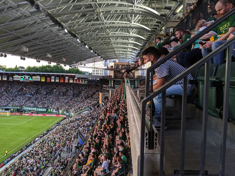 Pamplin Media Group - Timbers' reconstructed stadium scores with fans