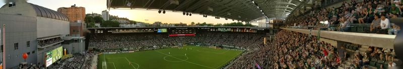 PAMPLIN MEDIA GROUP: JOSEPH GALLIVAN  - 180 view of Providence Park.