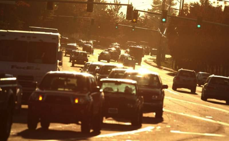 FILE PHOTO - A busy street in the Portland suburbs is shown here.