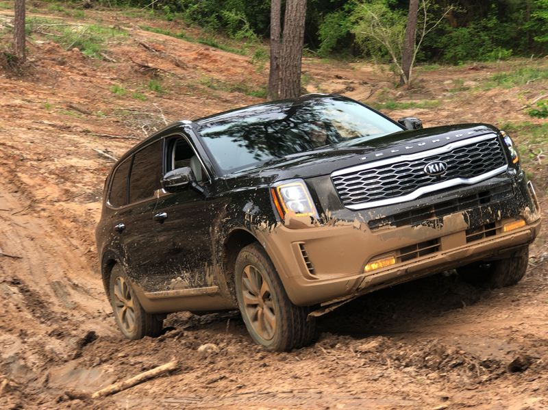 PMG PHOTO: JEFF ZURSCHMEIDE - The all-new midsize Kia Telluride crossover was named Best SUV by the Texas Motor Press Association recent 2019 Off-Road Invitational  — proof that crossovers are getting more and more off-road capable.