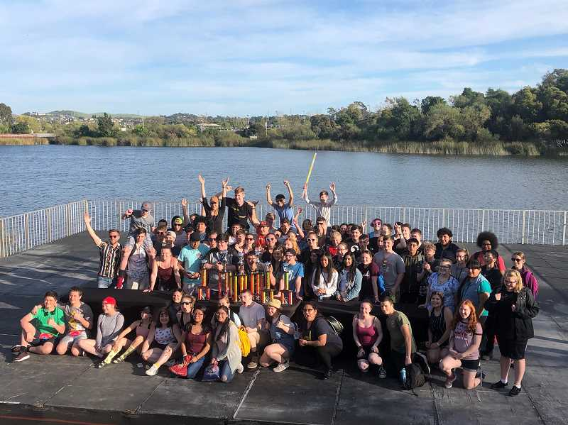 COURTESY PHOTO: NICK LUCHTERHAND - Pictured is the Canby band after attending a festival in the bay area in April.