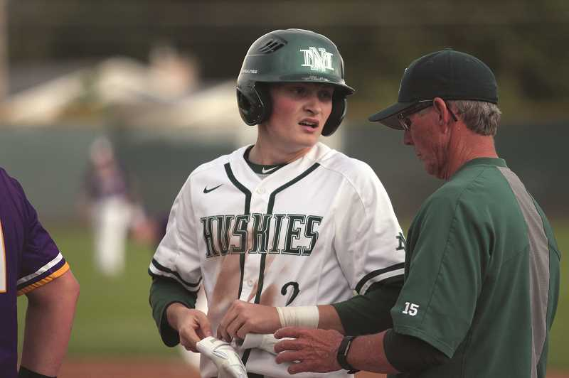PMG PHOTO: PHIL HAWKINS - North Marion junior Brady Hansen was 6-1 on the mound this season, played the second most innings on the team and was one of seven Huskies to earn First Team All-Conference honors.