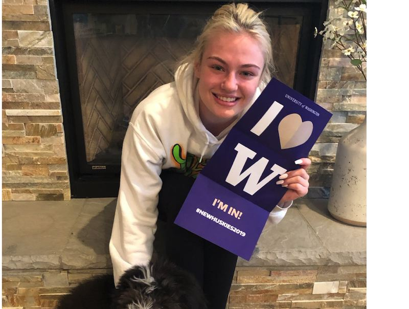 SUBMITTED PHOTO - Kennedy Meyers is excited about about winning a full-ride scholarship to attend the University of Washington.