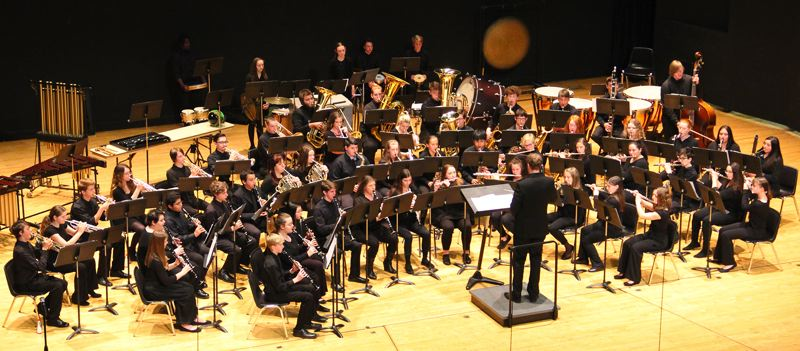 COURTESY PHOTOS - The Gladstone High School Symphonic Band captured third place in the state 4A competition.
