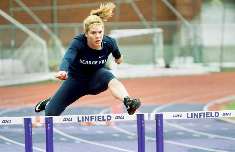 PHOTO COURTESY OF GFU - The Division III women's heptathlon includes the 100 hurdles among six other events.