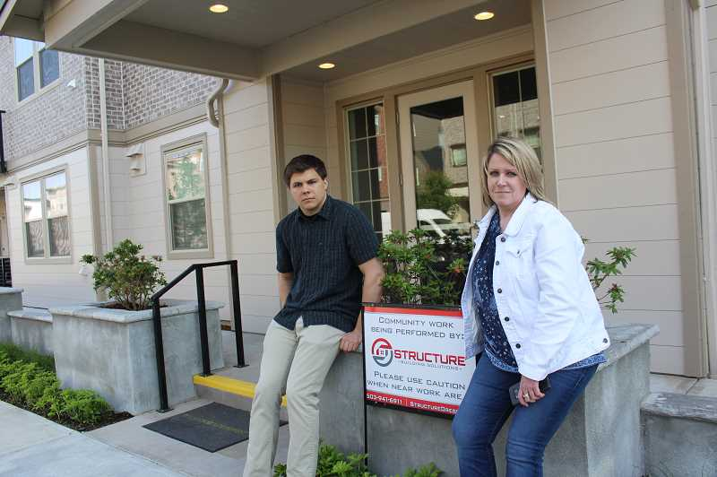 PMG PHOTO: COREY BUCHANAN - Amy Wilkins and Forrest Welk's lives were put on hold as they waited for repairs to be completed at their new condos in Villebois.