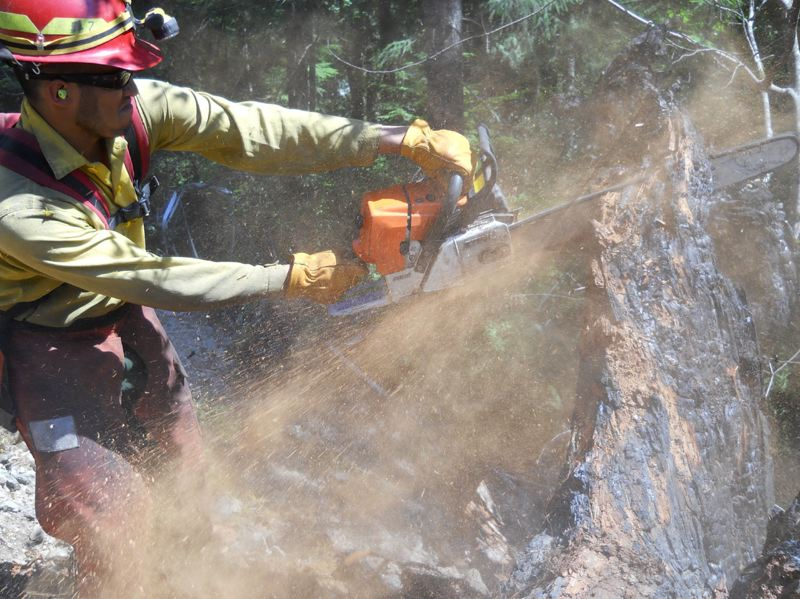 COURTESY PHOTO - Two National Guard battalions in Oregon are trained for the season with a third coming. The Forestry Department is training hundreds of seasonal firefighters.