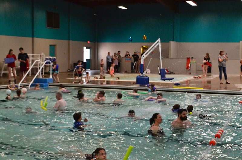 PMG PHOTO: BRITTANY ALLEN - Dozens of kids enjoyed the last open recreation swim at Olin Y. Bignall pool on Friday, May 31.