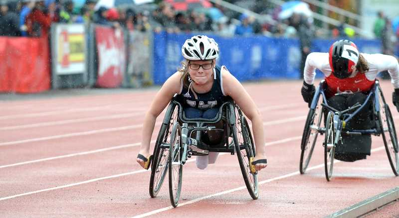 PMG PHOTO: TANNER RUSS - Senior Kayla Bolnick competed in both the 400 and 1,500 meters at the state championships.
