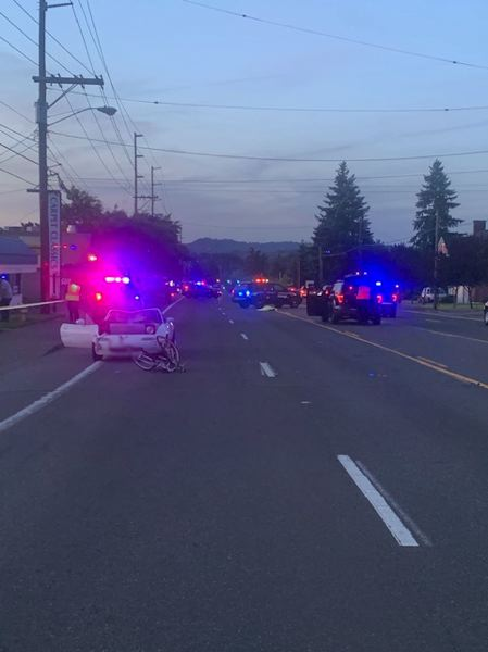COURTESY PHOTO - Tigard Police released this photo taken at the scene.