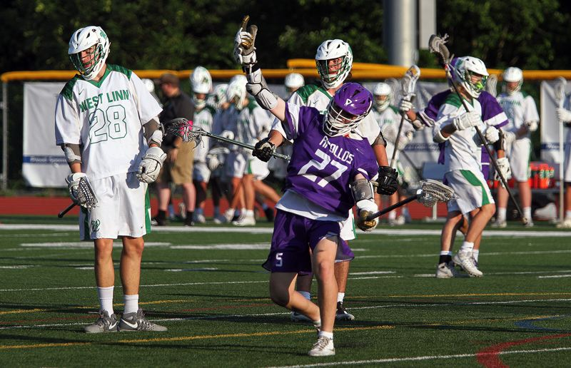 TIMES PHOTO: MILES VANCE - The Sunset boys lacrosse team reached the OHLSA semifinals against West Linn where it was defeated 10-8.