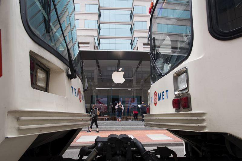 PMG: JAIME VALDEZ - The Apple store Pioneer Place reopened after a two-month remodel. The architecture was largely unchanged, but the interior is now geared toward reducing crowding and providing education and entertainment.