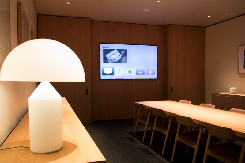 PMG: JAIME VALDEZ - Apple Pioneer Place's new Boardroom, where business clients and big spenders can get hands-on demonstrations.