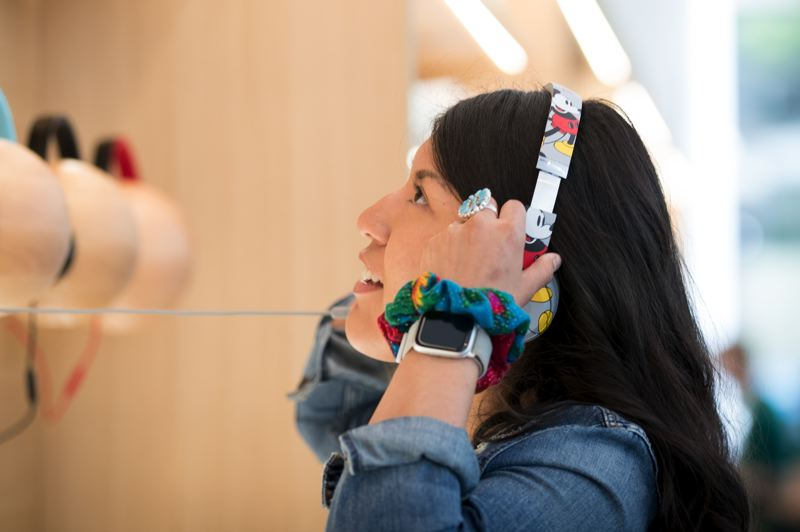 PMG: JAIME VALDEZ - Nursing student Ashley Dempsey from the Navajo reservation in Arizona was in town for a conference and took a break to look for some headphones that were sold out at home. The ones she wanted were sold out in Portland too.