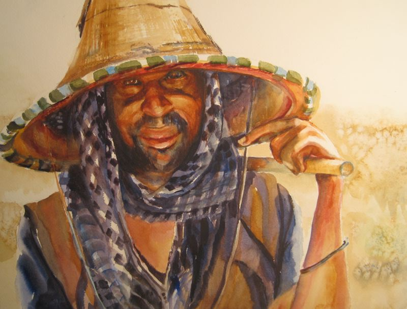 COURTESY PHOTO: GRESHAM ARTS COMMITTEE  - Fulani Herdsman by Glennda Field is part of the Here, There, Everywhere exhibition at the city of Greshams Visual Arts Gallery that runs through Aug. 8.