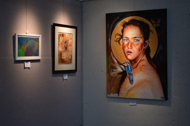 PMG PHOTO: TERESA CARSON  - A variety of paintings are on display at the Visual Arts Gallery for 'Here, There, Everywhere,' with an artist reception coming up on Tuesday, June 11.