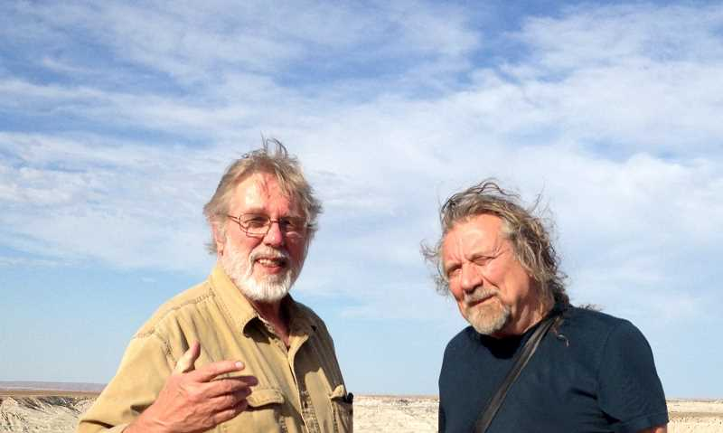 COURTESY PHOTOS:  - Kent Nerburn was invited to share his book 'Neither Wolf Nor Dog' at the Hay Literary Festival in Wales with his friend Robert Plant.