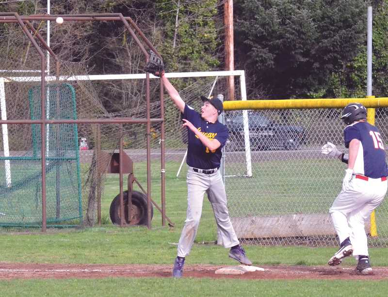 PMG FILE PHOTO: TANNER RUSS - Country Christian-North Clackamas Christian Cougar Tyler Burch earned an all-league honor for his work over the season.