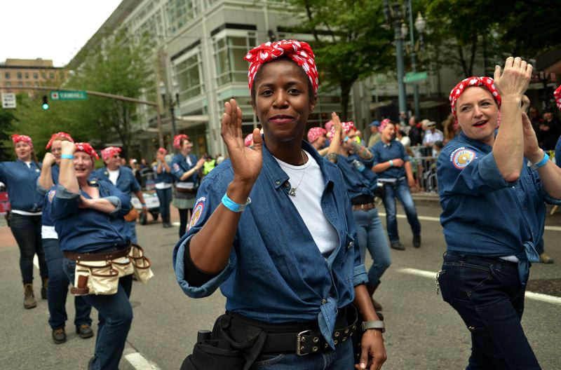 COURTESY: VERN UYETAKE - The Rosie the Riveters will march again in the Grand Floral Parade.