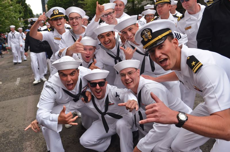 COURTESY: VERN UYETAKE - There'll be sailors galore in town for the Rose Festival weekend.