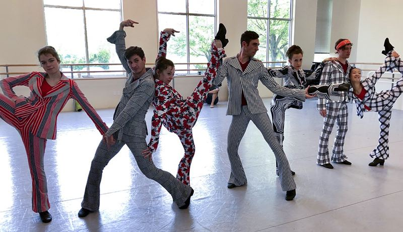 COURTESY: OBT - Oregon Ballet Theatre dancers are excited to perform in their 'Big Shoes' costumes — and with great music — for the upcoming 'The Americans' show.
