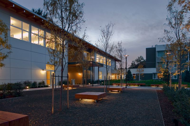 COURTESY: SCOTT EDWARDS ARCHITECTURE  - Scott | Edwards Architecture designed Sequoia Mental Health Services with sustainability elements that include on-site stormwater retention, high-efficiency mechanical systems, Energy Star-rated appliances and low VOC materials.