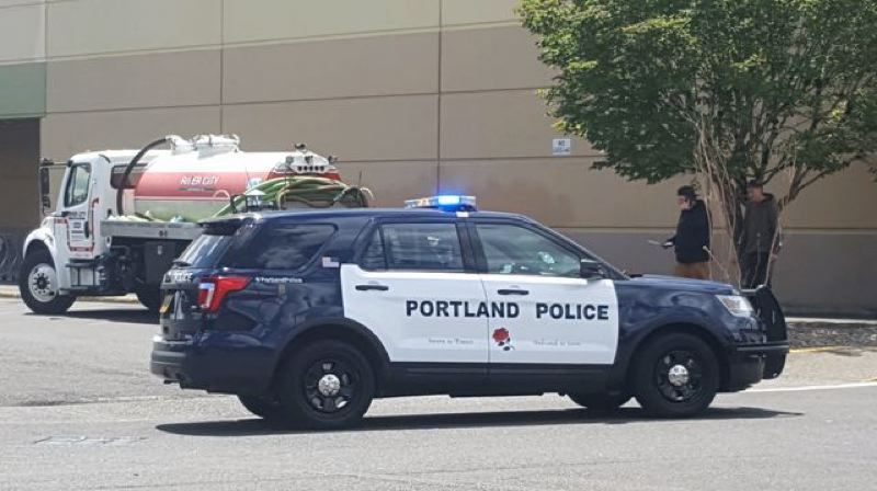 COURTESY PHOTO: KOIN 6 NEWS - Police negotiators are trying to defuse a situation at the Gateway Fred Meyer store on Northeast 102nd Avenue Thursday afternoon, June 6.