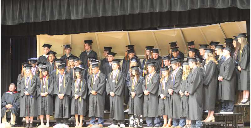 DESIREE BERGSTROM/MADRAS PIONEER - Culver High School's 48 seniors prepare for graduation.