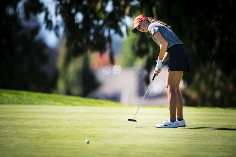 COURTESY PHOTO: OREGON STATE UNIVERSITY - Putting has been a strength for Oregon State golf standout Ellie Slama.