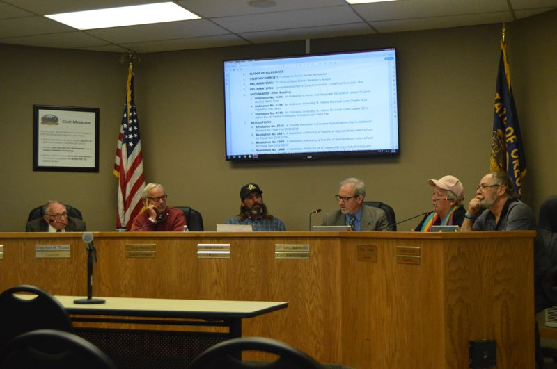 PMG PHOTO: NICOLE THILL-PACHECO - The St. Helens City Council voted to approve the citys 2019-20 budget Wednesday, June 5. The fiscal year budget accounts for staffing increases in several city departments.