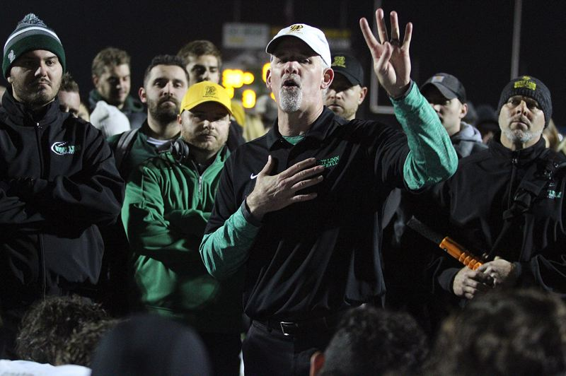 PMG PHOTO: MILES VANCE - West Linn head football coach Chris Miller recently announced that he will leave the Lions' program after the 2019 fall season to join the Houston team in the new XFL professional football league.
