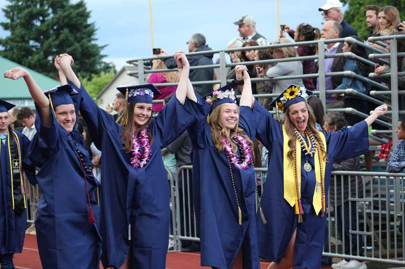 PMG PHOTO: KRISTEN WOHLERS - Canby High School's class of 2019 graduated on Friday, June 7 at Cougar Stadium.
