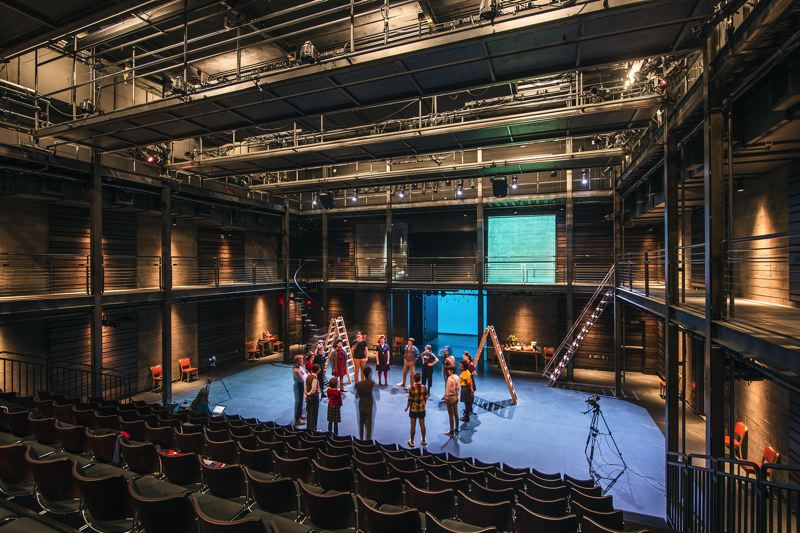 COURTESY: OPSIS ARCHITECTURE - Opsis Architecture designed the Reed College Performing Arts Center. As with their work at Clackamas Community College in Oregon City, the theater is designed to show its inner workings.