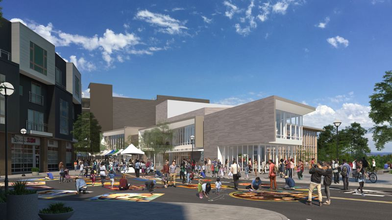 COURTESY: OPSIS ARCHITECTURE - A rendering of Beaverton's coming Patricia Reser Center for the Arts, a building that will embrace the creek that Beaverton usually turns its back on.