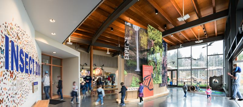 COURTESY: OPSIS ARCHITECTURE - The Oregon Zoo Educational Center won awards for sustainability and provides a woody entrance to the zoo through insect exhibits and a fun space for kids.