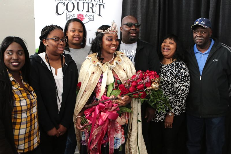 COURTESY PHOTO: DAVID ASHTON - Rose Festival Queen Mya Brazile celebrated with her family, including parents Michelle and Montral Brazile.