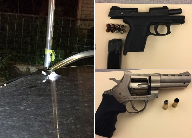 PPB PHOTOS - Police say two guns were seized as evidence following reports of a shooting in Northeast Portland.