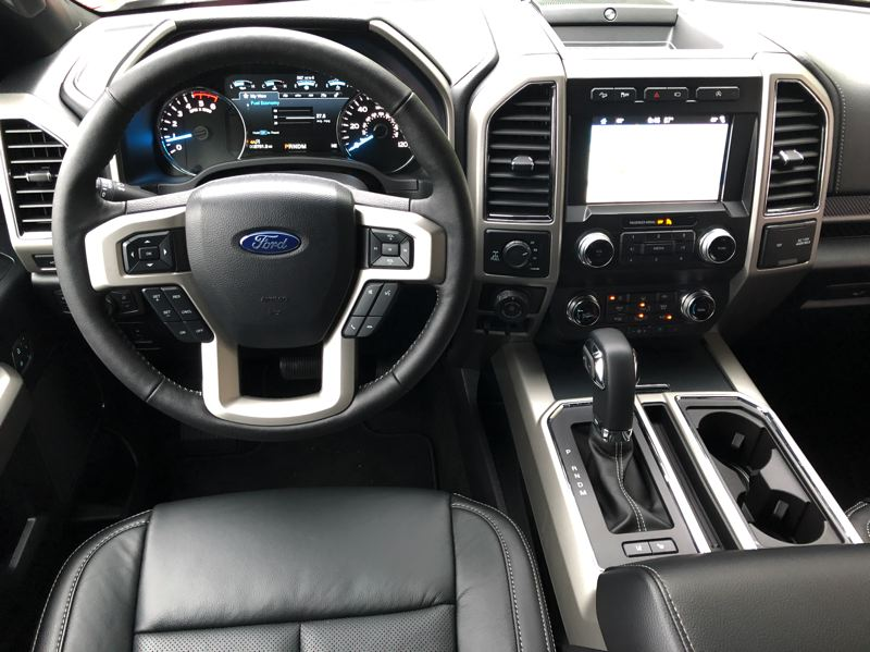PMG PHOTO: JEFF ZURSCHMEIDE - The interior of the 2019 Ford F-150 can be outfitted to luxury car standards with most available automotive technologies.