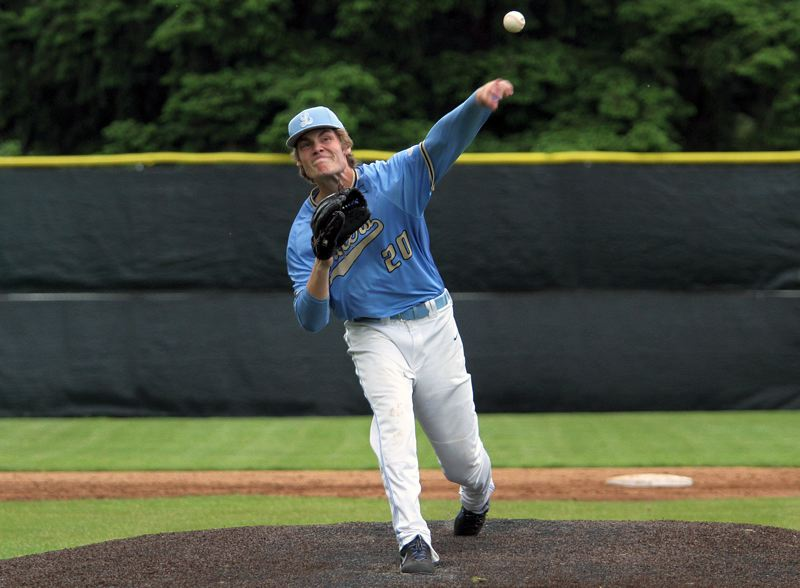 PMG PHOTO: MILES VANCE - Lakeridge junior pitcher Cooper Justice was named to the all-Three Rivers League first team after leading the Pacers into the Class 6A state quarterfinals.