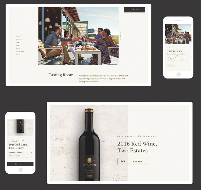 COURTESY: FINE - FINE often works with wineries on branding to 'get people to pay $350 for 750 ML of grape juice in a bottle,' as CEO Kenn Fine puts it. That takes some storytelling. Operationally, wine websites are very complex as they must mix storytelling with marketing, customer support and online sales.